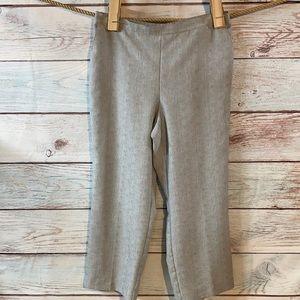 18 Alfred Dunner gray elastic waist pull on pant